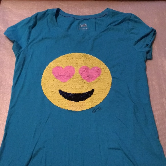 Justice Other - Justice girls size 18 sequence emoji blouse new